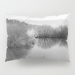 Lakescape in bw Pillow Sham