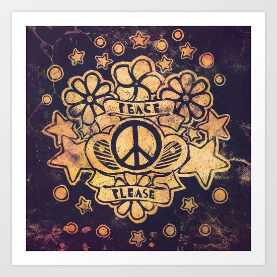 Peace Please Art Print