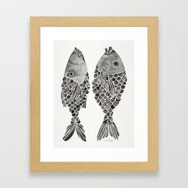Indonesian Fish Duo – Black Palette Framed Art Print