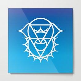 Throat & Third Eye Chakra Intersection Metal Print