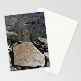 Prayer Stones en route to Pisang Stationery Cards