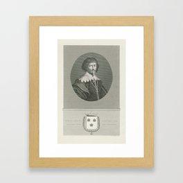 Portrait of Philip Karel Duke of Aarschot, Prince of Arenberg, Jan Frederik Christiaan Reckleben, 18 Framed Art Print