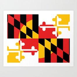 Maryland State Flag Art Print Art Print