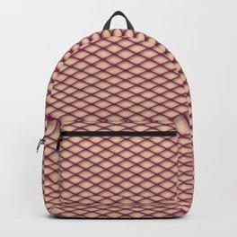 Purple Fishnet Texture on Pale Skin Backpack