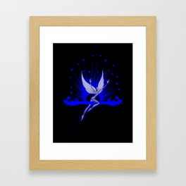 Electric Blue Angel Framed Art Print