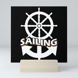 Sailing With Steering Wheel And Anchor Hobby Mini Art Print