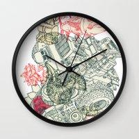 chaos Wall Clocks featuring Chaos by Tin Salamunic