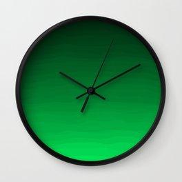 Happy Bright Apple Green Ombre Wall Clock