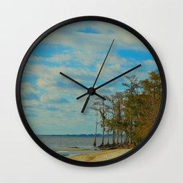 Louisiana Beaches Wall Clock