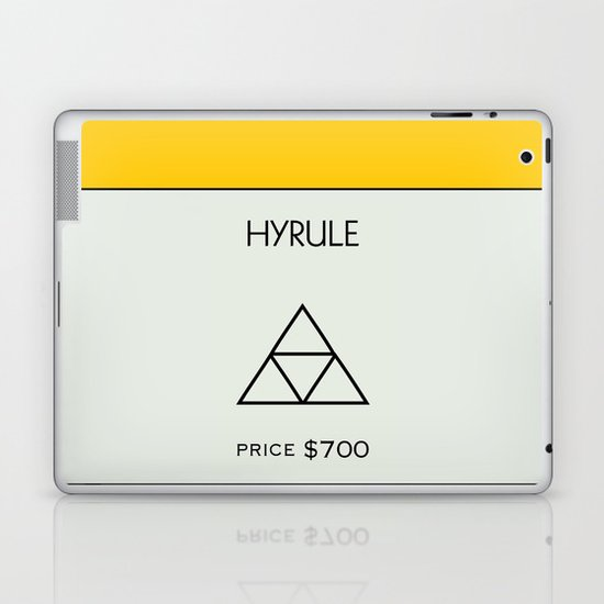 Hyrule Monopoly location Laptop & iPad Skin