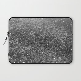 Silver Gray Black Glitter #2 (Faux Glitter - Photography) #shiny #decor #art #society6 Laptop Sleeve