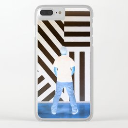 The Ghost at the Museum Clear iPhone Case