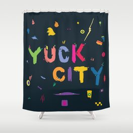 Yuck City Shower Curtain
