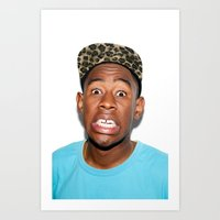 tyler the creator Art Prints featuring Tyler The Creator  by Trash Boat