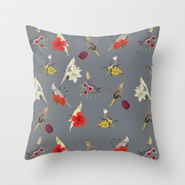 Cockatiels Galore Throw Pillow