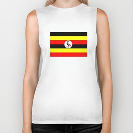 Uganda country flag Biker Tank