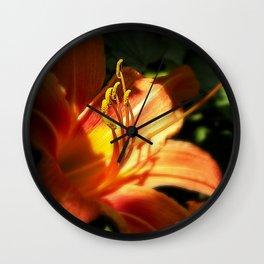Orange Lilly  Wall Clock