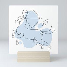 Sagittarius Single line Zodiac sign Mini Art Print
