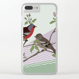 loving chaffinches Clear iPhone Case