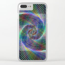 Fractal spiral Clear iPhone Case