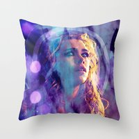 bad wolf Throw Pillows featuring Bad Wolf by Sirenphotos