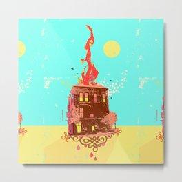 FIRE HOUSE Metal Print