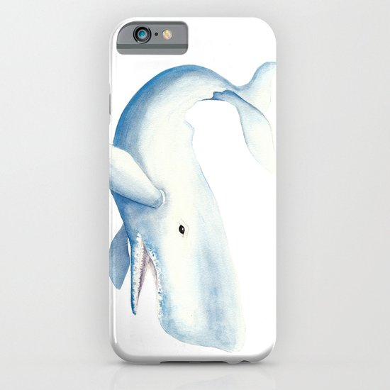 Nautical Whale Watercolor iPhone & iPod Case