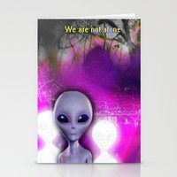 aliens Stationery Cards featuring Aliens by Aisling Rowland