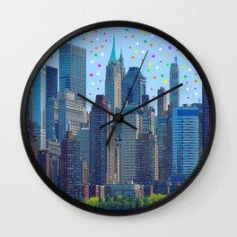 New York Meteor Shower Wall Clock