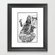 The Goddess Kamala Framed Art Print