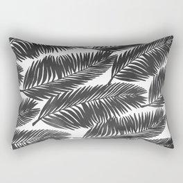 Black Feathers Rectangular Pillow
