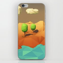 Low Poly Landscape iPhone Skin