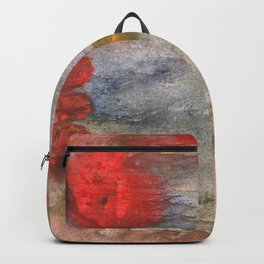 Rosy brown clouded wash painting Backpack