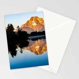Grand Teton Oxbow Bend Snake River Sunrise Print Stationery Cards