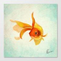 goldfish Canvas Prints featuring Goldfish by Richard Eijkenbroek