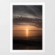 Presque Isle Sunset Art Print