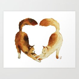 Feline Valentines Art Print
