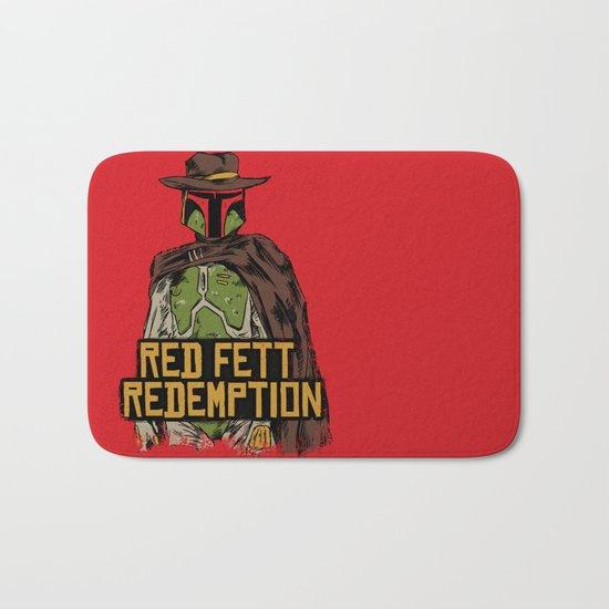 Red Fett Redemption Bath Mat