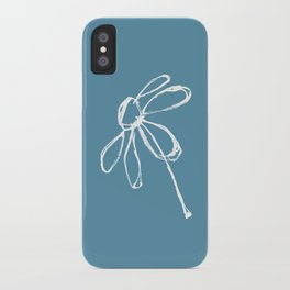 Flower in Blue iPhone Case