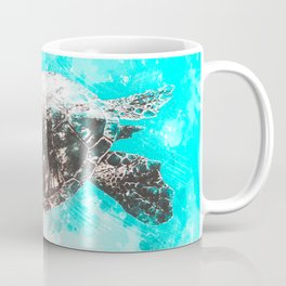 Sea Turtle Abstract Watercolor Painting Coffee Mug