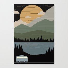Westfalia by the moon Canvas Print