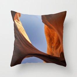 Rattlesnake Canyon, AZ - Bridge Throw Pillow