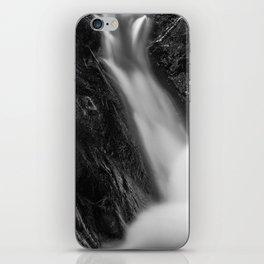 Shelving Rock Stream - Black & White iPhone Skin