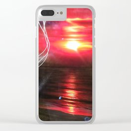 'Red Earth' Clear iPhone Case