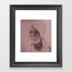 Egyptian Old Man Framed Art Print