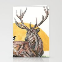 stag Stationery Cards featuring Stag by Meredith Mackworth-Praed