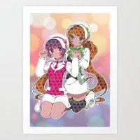 yaoi Art Prints featuring Yuri Kuma Arashi by Neo Crystal Tokyo