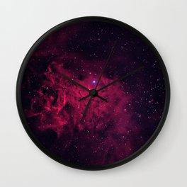 The Flaming Star Nebula Wall Clock