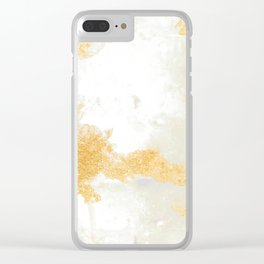 Texture of gold and Gray Clear iPhone Case