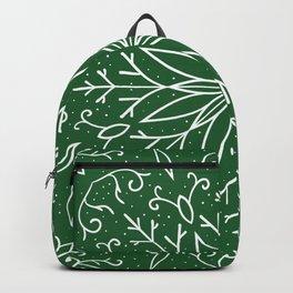 Single Snowflake - green Backpack